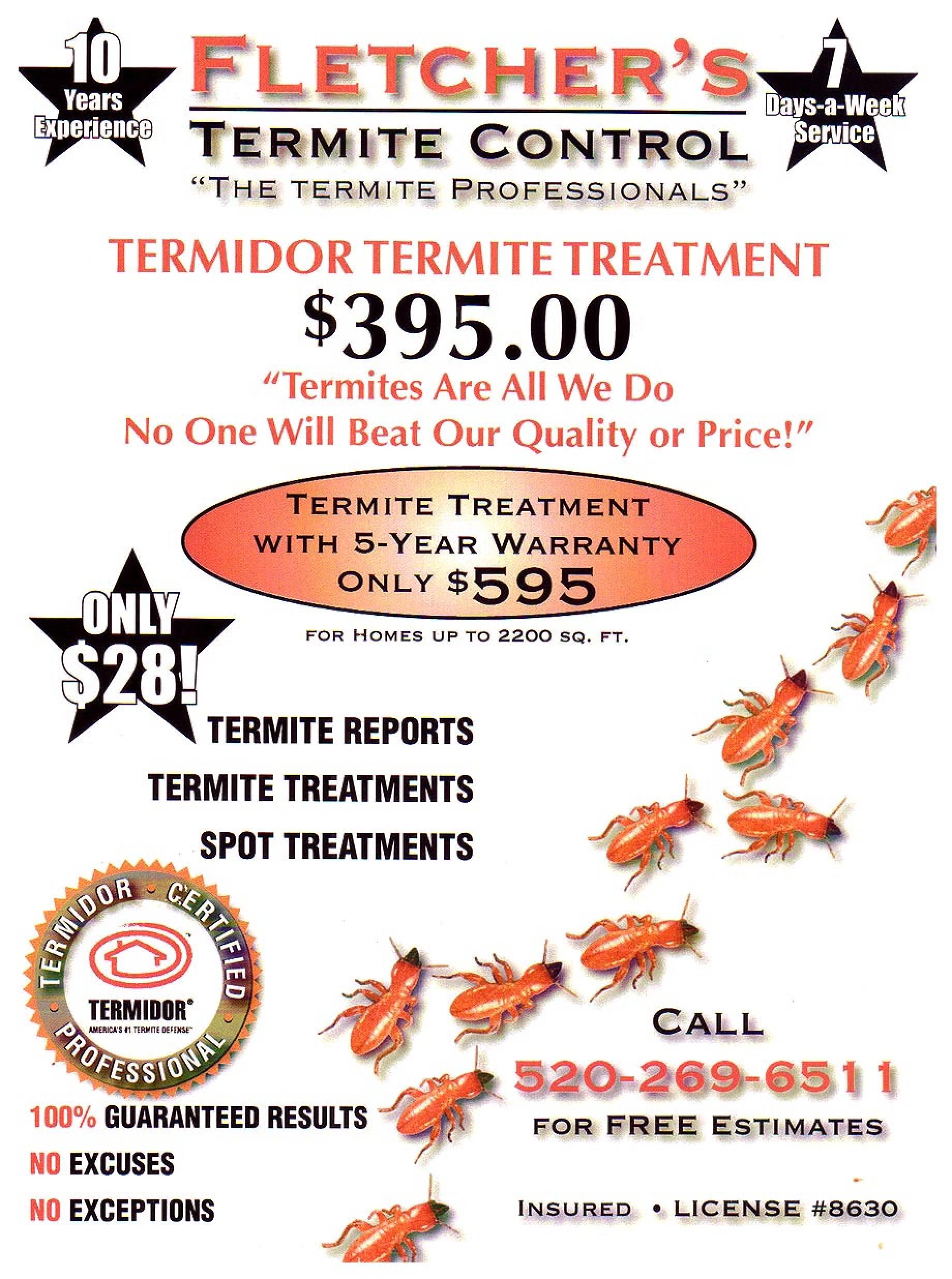 Termites Treatment Cost